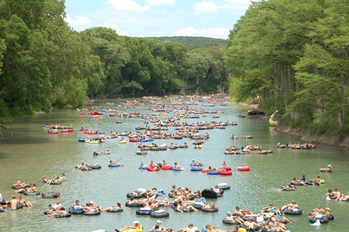 Top 10 Texas Summer Hotspots  texas summer hotspots Top 10 Texas Summer Hotspots HorseshoeLoopGuadalupeRiverCanyonLakeTxTubeHaus