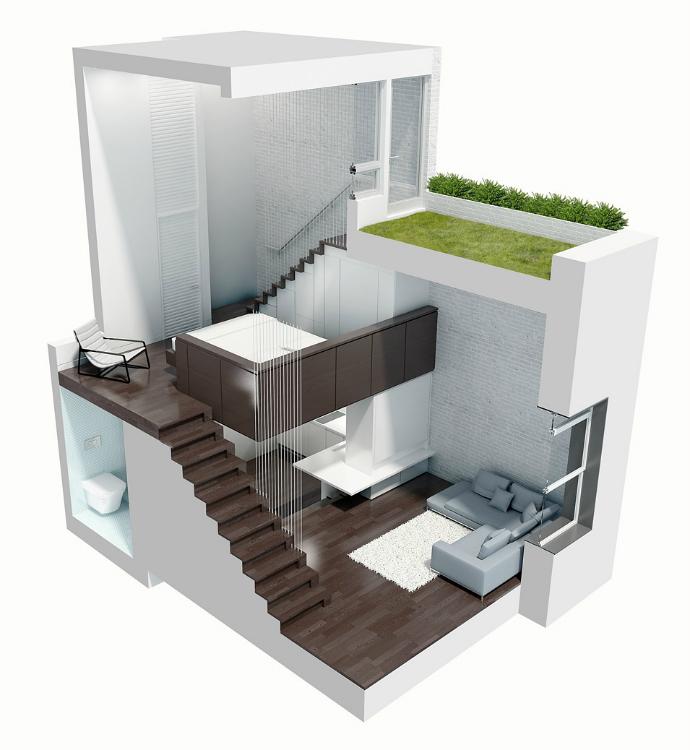 Manhattan Micro-Loft_3  Manhattan Micro-Loft Design  Manhattan Micro Loft 3