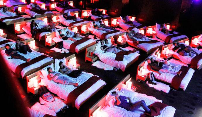 Top 25 Design Cinemas Around the World  Top 25 Cinemas Design Around the World cinemas interior beds  880